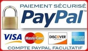 Paiement via Paypal possible sur la boutique Michaël Lefèvre